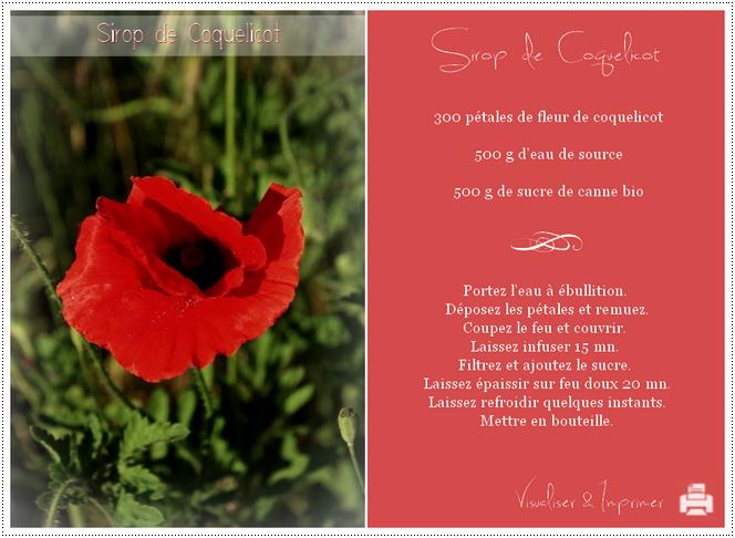 Sirop de Coquelicot - Visualiser & Imprimer la recette ...