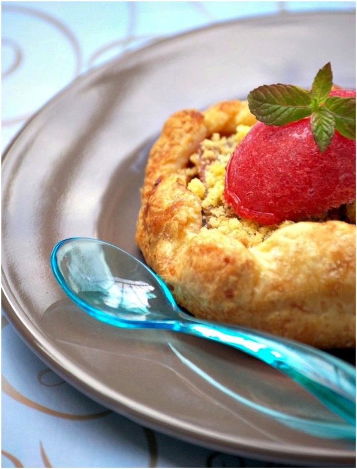 Tarte-Crumble-Rhubarbe-Sorbet-Fraise-Menthe2