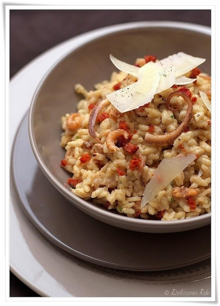 Risotto-aux-Crevettes-Grises-Poulpes-Chorizo-Manchego-111