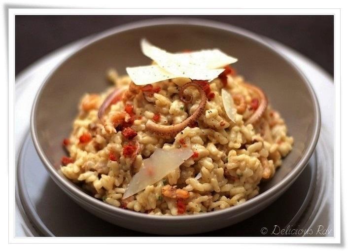 Risotto-aux-Crevettes-Grises-Poulpes-Chorizo-Manchego11