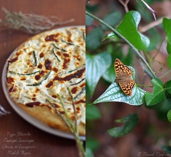 Pizza aux Asperges Sauvages Chèvre Cucugnan Miel Thym 1