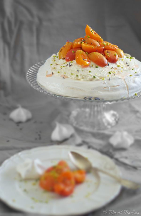 Pavlova Abricots Lavande Miel Citron 1