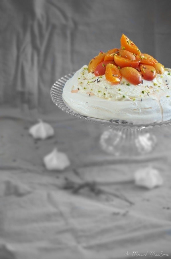Pavlova Abricots Lavande Miel Citron