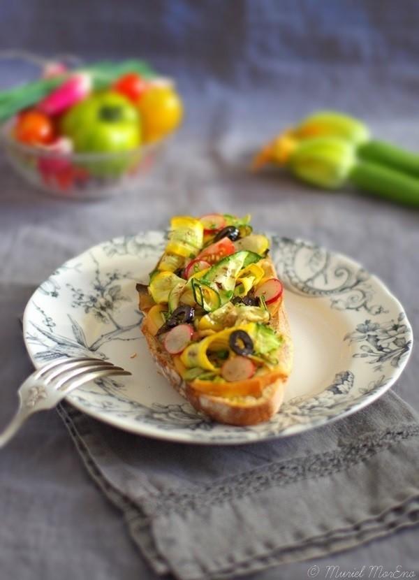 Tartines Scamorza Légumes Eté Grillés 1
