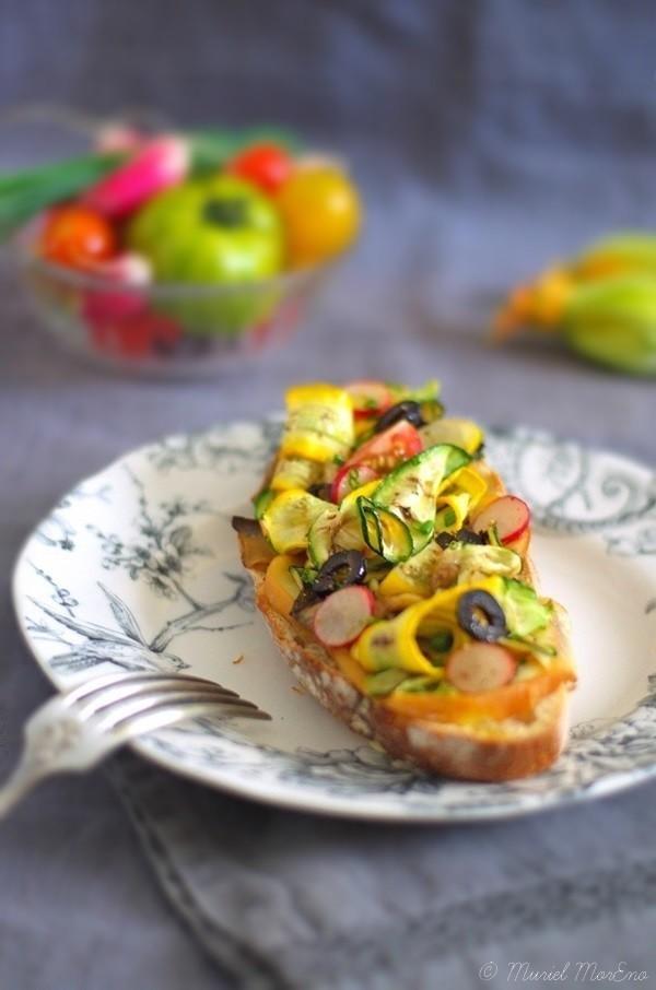 Tartines Scamorza Légumes Eté Grillés