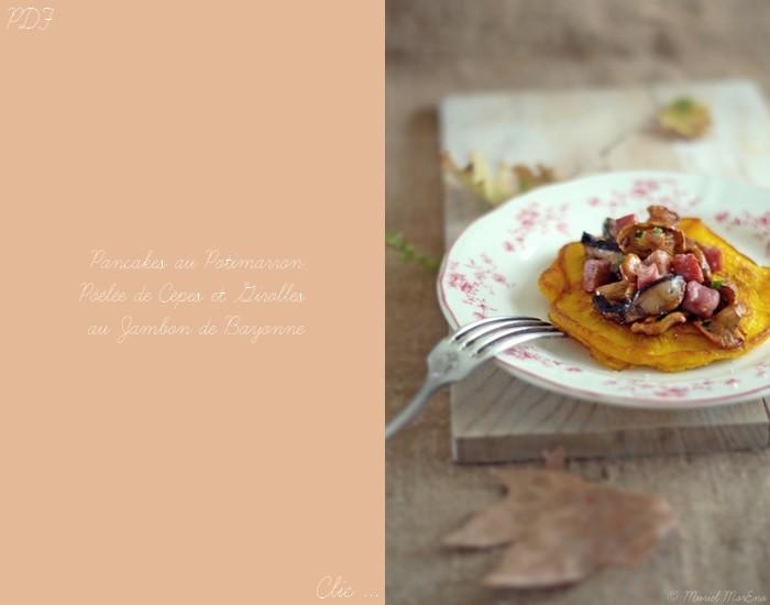 Pancakes Potimarron Champignons des Bois et Bayonne PDF